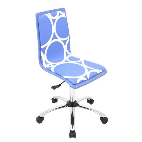 Printed Blue Circles Computer Chair