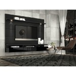 Manhattan Comfort Cabrini Theater Entertainment Center Panel 1.8 in Black