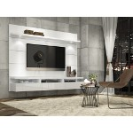 Manhattan Comfort Cabrini Theater Entertainment Center Panel 2.2 in White Gloss