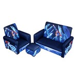 Superman-Power Up Sofa Chair And Ottoman