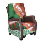 Football 50 Yard Line Kids Recliner