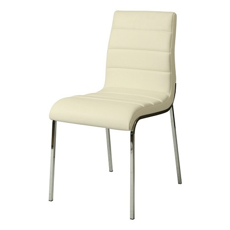 Fort James side chair in Pu Ivory
