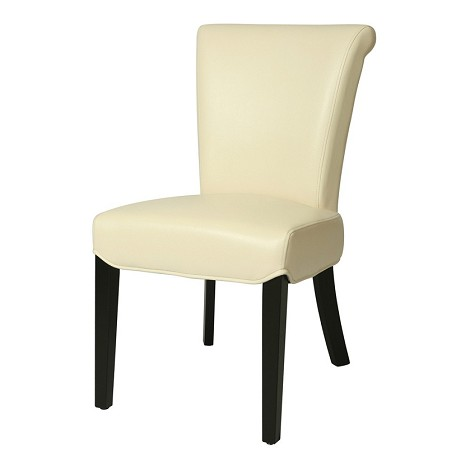 Hannah side chair in bonded white