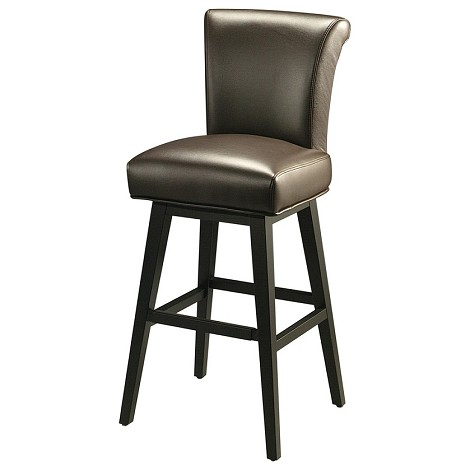 "Hannah 30"" Barstool in ballarat back wood upholstered in bonded brown leather - Each Stool"