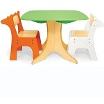 Safari Collection - Tree Table with Giraffe & Zebra Chairs