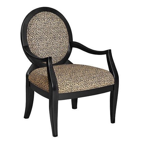 502-622 Classic Seating Leopard Oval Back Accent Chair
