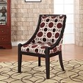 Mulberry & Grey High Back Accent Chair