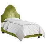 Arch Tufted Bed In Micro-Suede Kiwi