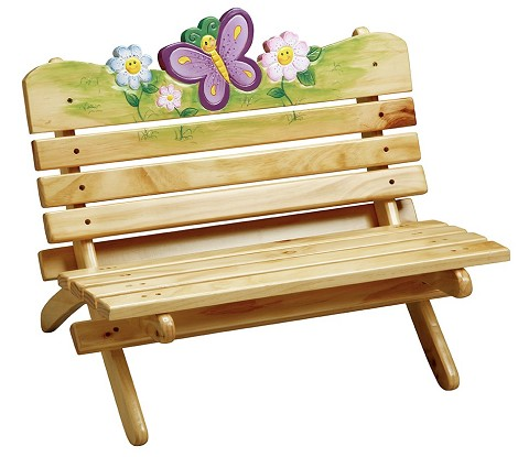 Teamson Kids Girls Outdoor Bench - Magic Garden Outdoor
