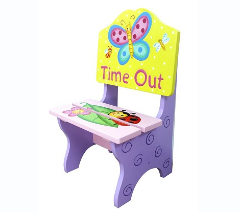 Teamson Kids Girls Timeout Chair - Magic Garden