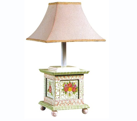 Teamson Kids Girls Table Lamp - Crackled Rose