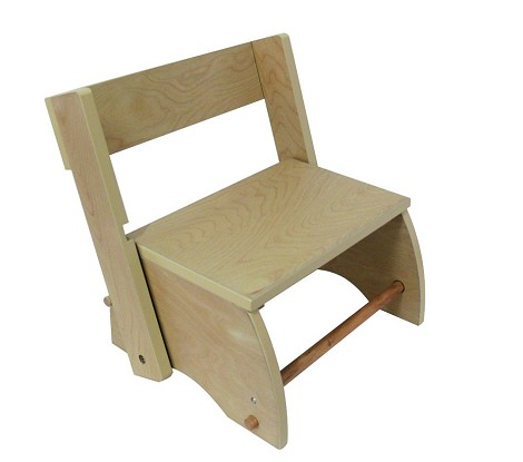 Teamson Kids Step Stool-  - Large/Natural - The Winsdor