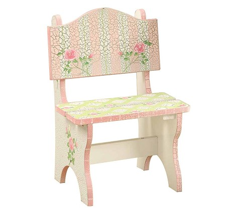 Teamson Kids Girls Mini Chair - Crackled Rose