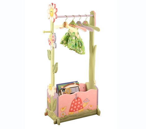 Teamson Kids Girls Valet Rack with Hangers - Magic Garden