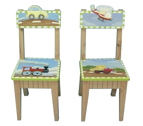 Teamson Kids Boys Set of 2 Chairs - Transportation