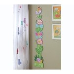 Teamson Kids Girls Wooden Growth Chart - Magic Garden