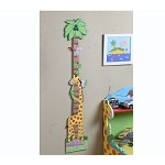 Teamson Kids Wooden Growth Chart - Sunny Safari