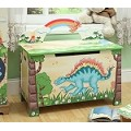 Teamson Kids Boys Toy Chest - Dinosaur Kingdom