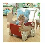Teamson Kids Boys Push Cart - Dinosaur Kingdom