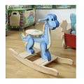 Teamson Kids Boys Rocking Horse - Dinosaur Kingdom
