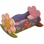 Teamson Kids Girls Rocking Bed for Dolls - Magic Garden