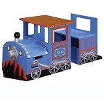 Teamson Kids Train Writing Table and Bench - Trains and Trucks
