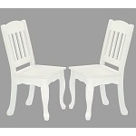 Teamson Kids White Set of 2 Chairs - The Winsdor