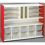Sectional Storage with Trays (ASM) Red