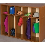 5 Section Single Sided Toddler Locker