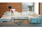 3334 - Modern Leather Sectional Sofa