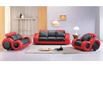 4088 - Contemporary black and red sofa set