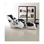 920 - Modern California Cow Hide Chair and Ottoman