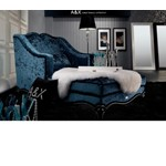 AW221-160 Teal Fabric Chaise Lounge