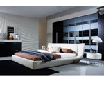 Arctic - Modern Bed With Speakers and Iphone Audio Dock