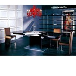 Armani 818 Black High Gloss Dining Table with White Extension