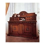 San Marco Dark Walnut 3 Deck Display Buffet