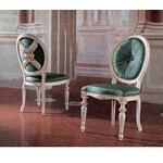 San Marco High Detail Arm Chairs in Turquoise Silk