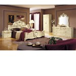 Barocco Ivory Italian Classic 5-Piece Bed Set Cal. King Only