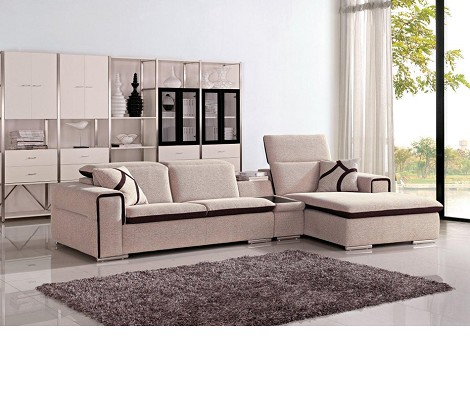Divani Casa Harding - Modern Fabric Sectional Sofa