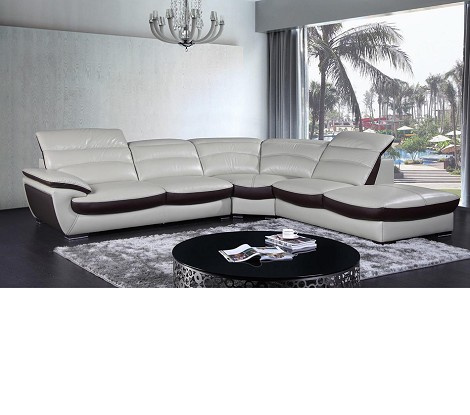 Divani Casa K8468 - Contemporary Leather Sectional Sofa