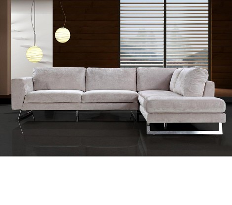 Divani Casa Milano - Modern Fabric Sectional Sofa