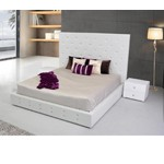 Elbrus - White Modern Leather Platform Bed