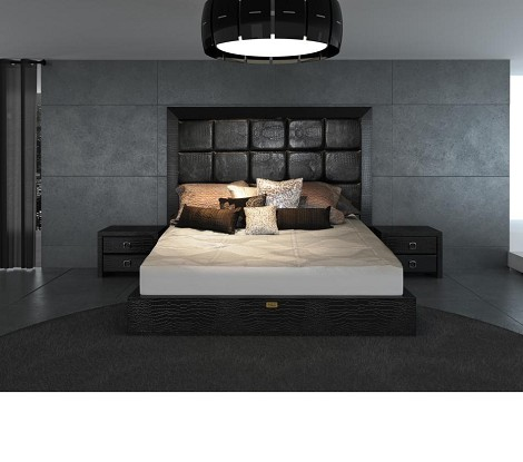 Glam Black - Armani Xavira Collection Bed - Model: AA216-180