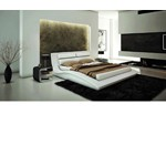 J212W - Contemporary Eco-Leather Bed