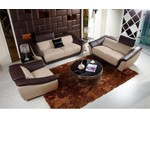 K8376 - Modern Multi-Toned Leather Sofa Set