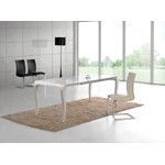 MT100 - Transitional White Gloss Dining Table