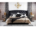 Majestic - Transitional Black Eco-Leather Bed