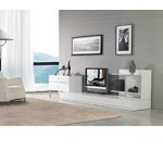 Maryland White 3 Piece Entertainment Center