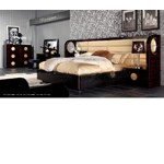 Modern Leather and Lacquer Bed AW225-180