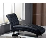 Monte Carlo Black Leather Chaise